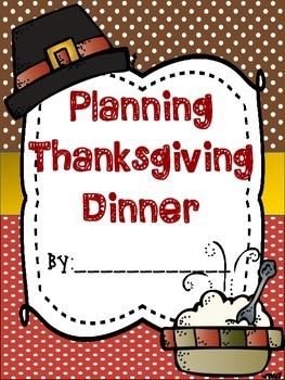 Thanksgiving Adding and Subtracting Money (Planning Dinner-PBL)