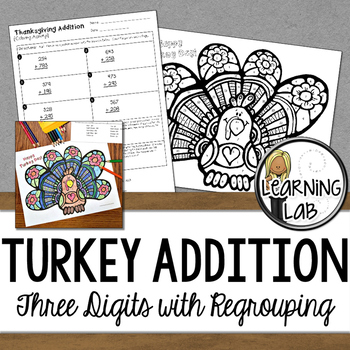 Thanksgiving Math - Addition with Regrouping