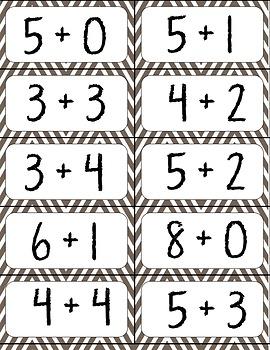 Thanksgiving Addition Bingo