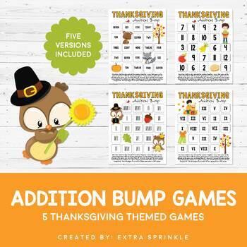Thanksgiving Addition Bump Games