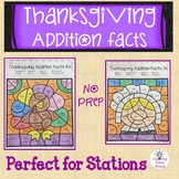 Thanksgiving Addition Color By Number - Basic Addition Facts