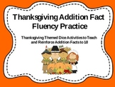 Thanksgiving Addition Fact Fluency Practice
