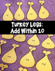 Thanksgiving Addition Fact Math Puzzles