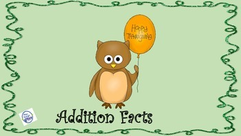 Thanksgiving Addition Facts