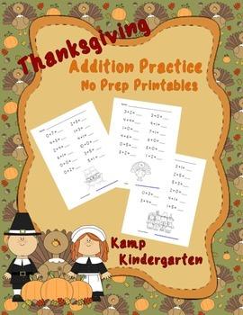 Thanksgiving Addition No Prep Printables FREE