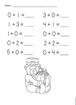Thanksgiving Addition Practice Packet (Sums 0-5)