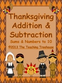 Thanksgiving Addition & Subtraction Within 10