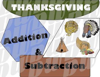Thanksgiving Addition & Subtraction Visuals