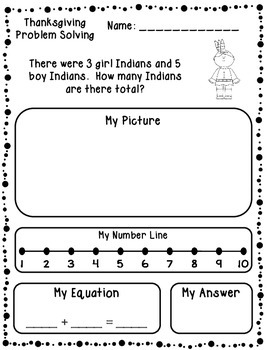 Thanksgiving Addition & Subtraction Word Problems (Kindergarten/First)