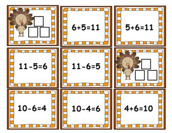 November Math Centers (Thanksgiving)