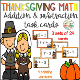 Thanksgiving Addition and Subtraction Basic Facts