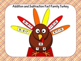 Thanksgiving Addition and Subtraction Fact Family Turkeys (Common Core)