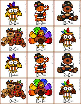 Thanksgiving Addition and Subtraction Games