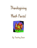 Thanksgiving Addition and Subtraction Math Facts
