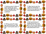 Thanksgiving Addition and Subtraction Story Problems to 20