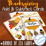 Thanksgiving Addition and Subtraction Task Cards BUNDLE