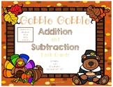 Thanksgiving Addition and Subtraction Practice Task Cards