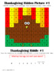 Thanksgiving Addition to 10: Hidden Pictures and Riddles