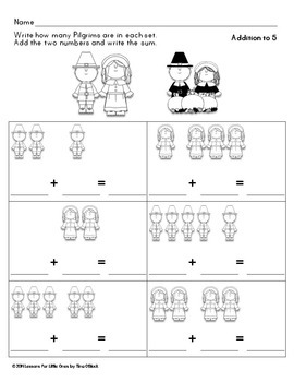 Thanksgiving Addition to 10, Subtraction to 10 Printables (Differentiated)