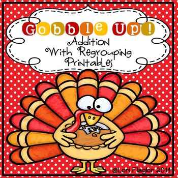 Thanksgiving Addition with Regrouping Printables