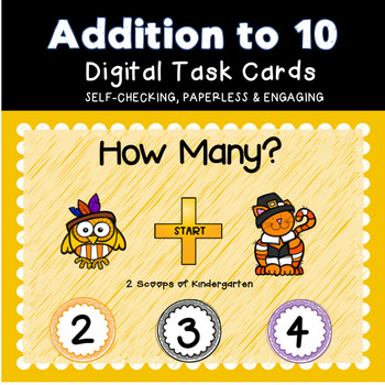 Thanksgiving Addition within 10 Power Point Game