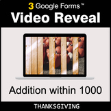 Thanksgiving: Addition within 1000 - Google Forms Math Gam