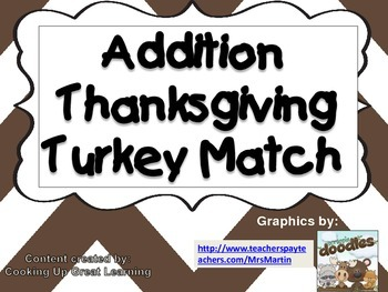 Thanksgiving Addition Turkey Match