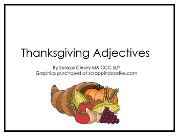 Thanksgiving Adjectives