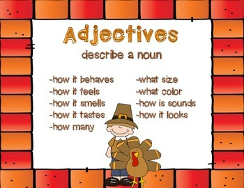 Thanksgiving -Adjectives