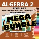 Thanksgiving Algebra 2 BUNDLE: Math Pixel Art