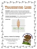 Thanksgiving Algebra Activity - Graphing Lines