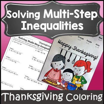 Thanksgiving Algebra Activities {Thanksgiving Algebra 1 and 2 Worksheet}