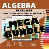Thanksgiving Algebra BUNDLE: Math Pixel Art