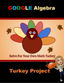 Thanksgiving Algebra Math Activity Turkey Solve Order of O