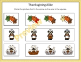 Thanksgiving Alike and Different Practice