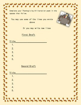 Thanksgiving Alliteration Poem: Seasonal Poetry