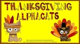 Thanksgiving Alpha-Cats for ActivBoard