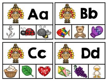 Thanksgiving Alphabet Activities