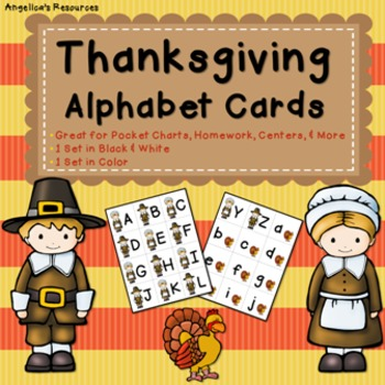 Thanksgiving Activities: Alphabet Cards