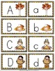 Thanksgiving Alphabet Cards and Writing Book