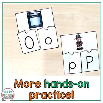 Thanksgiving Alphabet Interactive Set - Letter - Sounds - Comprehension