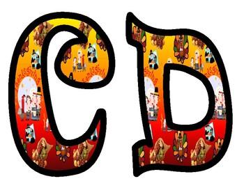 Thanksgiving Alphabet Letters
