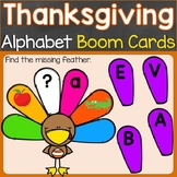 Thanksgiving Alphabet Letters Boom Cards Uppercase & Lower