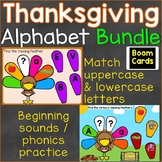 Thanksgiving Alphabet Letters & Letter Sounds (Phonics) Bo