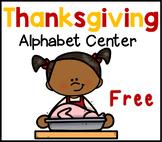 Thanksgiving Alphabet Literacy Center