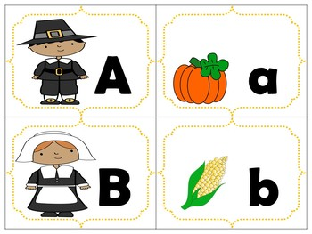 Thanksgiving Alphabet Match