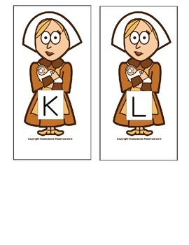 Thanksgiving Alphabet Matching Game