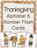 Thanksgiving Alphabet & Number Flash Cards