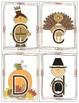 Thanksgiving Alphabet & Number Flash Cards
