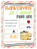 Thanksgiving Alphabet & Number Tracing Cards